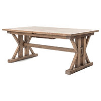 """Four Hands Furniture Tuscan Spring Extension Dining Table, 72""""/96"""""""
