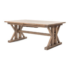 Wood Table With Tile Inlay Dining Tables Houzz