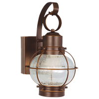 """Wall Sconces 1 Light Fixtures With Burnished Bronze Finish Brass LED 7"""" 9 Watts"""