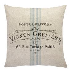 TheWatsonShop - French Grainsack Linen Throw Pillow - Decorative Pillows