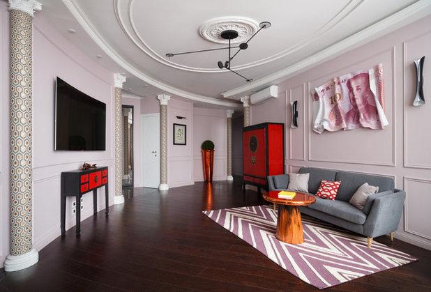 Asian Living Room by Дизайн-бюро Kvadro