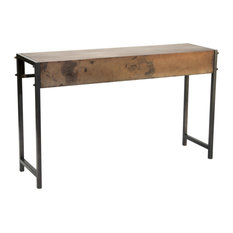 Industrial Bronze Metal Console Table