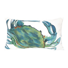"Blue Crab Sea Pillow, Sea, 12""x20"""