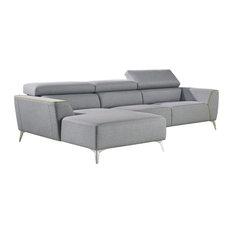 Vig Furniture Inc. - Divani Casa Sawtelle Modern Gray Fabric Sectional Sofa - Sectional Sofas