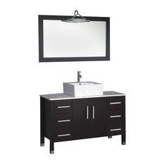 Espresso 48 Inch Bathroom Vanity Houzz