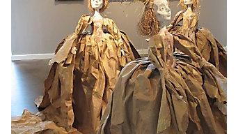 Art installation exhibition at Patricia Cameron Gallery - artist Leslie Mckay