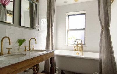 Glänzende Idee: Messing bringt wohlige Atmosphäre in ein New Yorker Bad