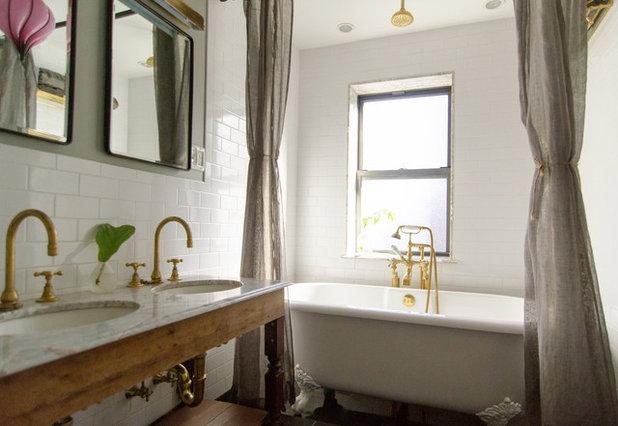Ideal Eclectic Bathroom by indigo u ochre design