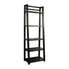 Contemporary Wooden Leaning Bookcase