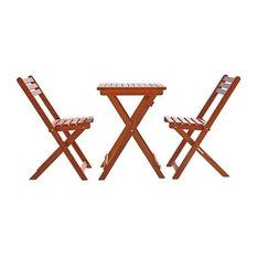 Vifah Malibu Premium Hardwood 3 Piece Outdoor Bistro Set