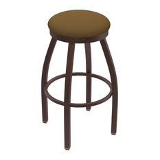 802 Misha 30-inch Swivel Bar Stool With Bronze And Canter Saddle Seat