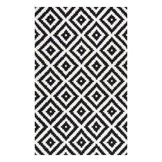 Hand-Tufted Tuscan Vs174 Rug, Black, 10'x14'