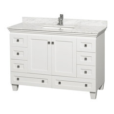 "Single Bathroom Vanity, White, 48"", Without Mirror"