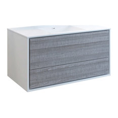 Fresca Catania 48-inch Gloss Ash Gray Wall Hung Cabinet With Integrated Sink