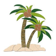 "Palm Tree 1 Ceramic Swimming Pool Mosaic 18""x17"""