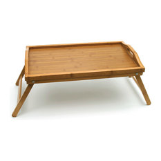 lipper bamboo bed tray with folding legs tv trays
