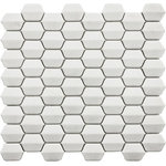 Rocky Point Tile Co - Vetro D'Terra Glass Dolomite Elongated Hexagon Mosaics, 1 Sq Ft - We're excited to have the Vetro D'Terra matte glass mosaic tiles in our collection this year. The white glass texture on these tiles resembles beach glass that's been smoothed down by sand. Really nice choice for a fireplace, kitchen backsplash, or bathroom accent.