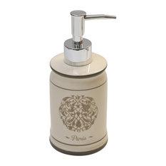 Evideco Paris Romance Dolomite Bathroom Soap And Lotion Dispenser Color Beige Soap