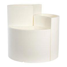 Petal Indoor/Outdoor Plant Pots, White, 3-Piece Set