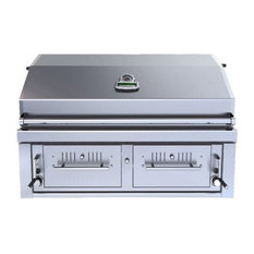 """42"""" Gas Hybrid Dual Zone Charcoal and Wood Burning Grill"""