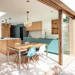 Design ideas for a medium sized contemporary kitchen in London.
