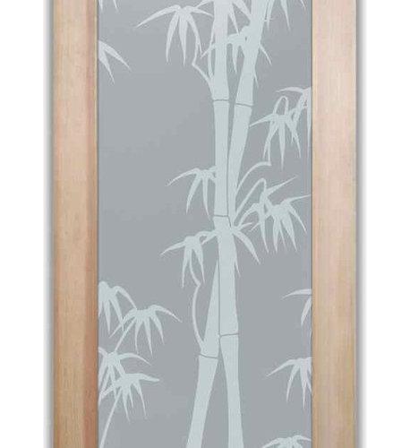 Bathroom Doors   Interior Glass Doors Frosted   Bamboo Shoots   Interior  Doors