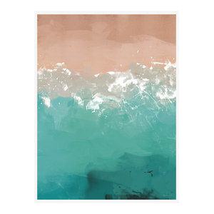 """Summer Dreaming"" Coastal Art Print, Print Only, 50x70 cm"