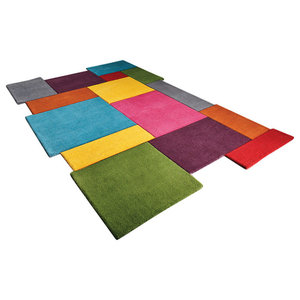 Abstract Collage Multi Coloured Rectangular Rug, 150x240 cm