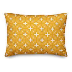 Yellow Lattice 14x20 Lumbar Pillow