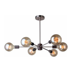 Woodbridge Lighting 16116-G125 Ethan 6 Light Sputnik Style Chandelier