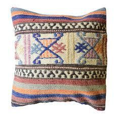"""Pasargad Turkish Vintage Wool Pillow- 20"""" x 20"""""""