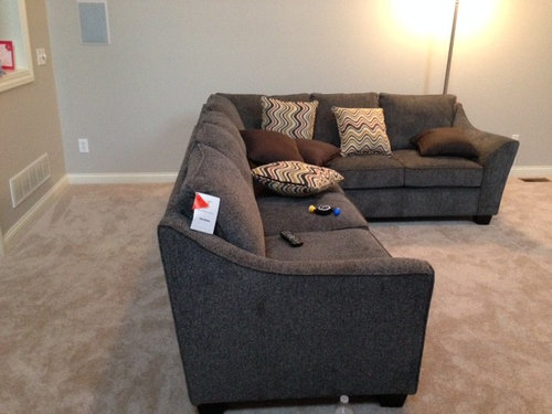 Sofa Tables On Each Side Of A Sectional