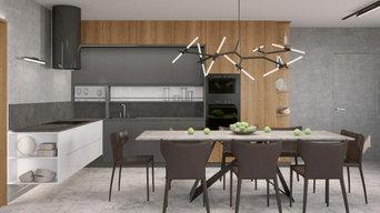Кухня в современном стиле (1 этаж)