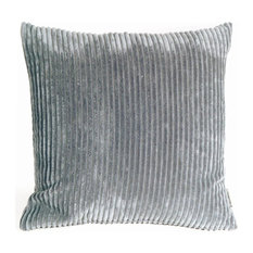 Pillow Decor - Wide Wale Corduroy Dark Gray 18 x 18 Throw Pillow