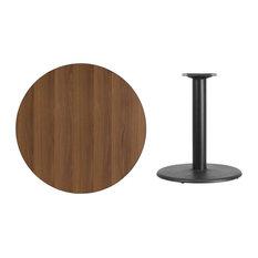 Flash Furniture 36'' Round Walnut Laminate Table