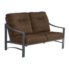 Kenzo Cushion Love Seat, Graphite Frame, Tucson Creek Cushion