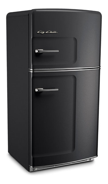 Retro Fridge Black Without Ice Maker