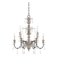 Distressed wood chandeliers houzz savoy house madeliane 9 light chandeliers distressed white wood and iron chandeliers aloadofball Images