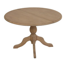 Natural Round Extendable Dining Table, Ash