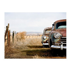 """""""Two Old American Cars"""" Wallpaper Mural, 400x310 cm"""