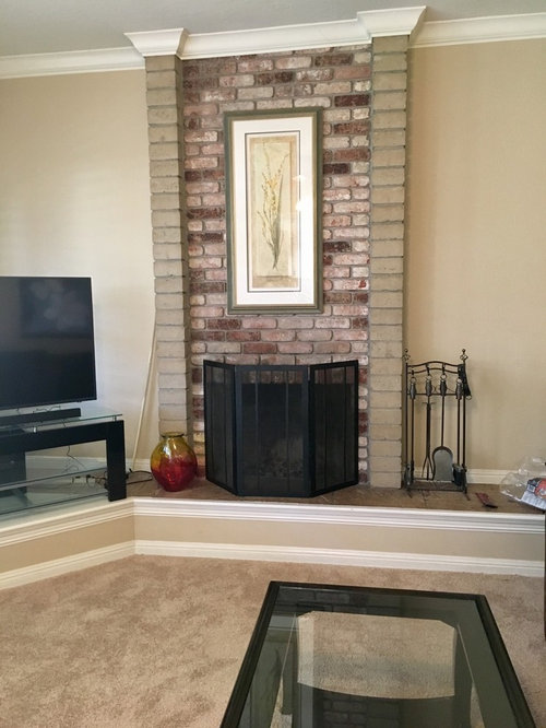 Paint Fireplace The Same Color As Wall Or Trim
