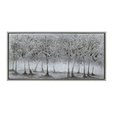 Solitary Field Tree Textured Metallic Hand Painted Wall Art by Martin Edwards