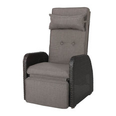 Wicker Recliner with Cushion