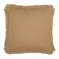 Farmhouse Bedding Veranda Burlap Pillow Cotton Solid Color Square