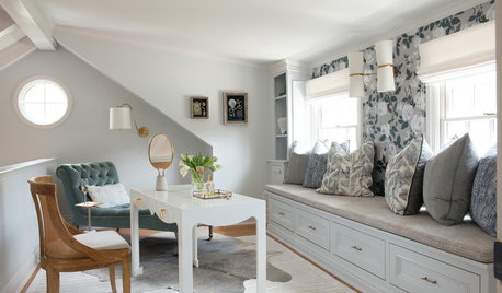 Room of the Day: Storage Space Turned Classy Dressing Room