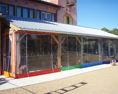 Clear Vinyl Patio Enclosure Weather Curtains Residential Custom Pavilion  Project