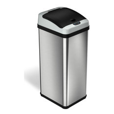 iTouchless 13 Gallon Platinum Sensor Trash Can with AbsorbX Odor Control System