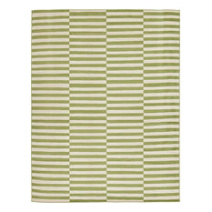 Solid/Striped Wingate 9'x12' Rectangle Ivy Area Rug