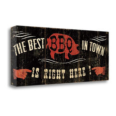 """""""The Best Bbq In Town"""" By Pela Studio, Giclee Print on Gallery Wrap Canvas"""