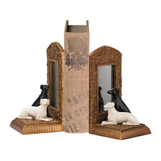 Greyhound Reflection Bookends